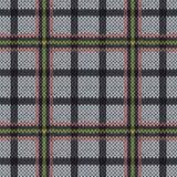 在无言桃红色,绿色和灰色颜色的编织的无缝的样式 免版税图库摄影