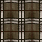 在无言温暖的颜色的编织的无缝的样式 免版税库存图片