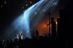 在无限的节日的主要阶段的生活音乐会 免版税库存照片