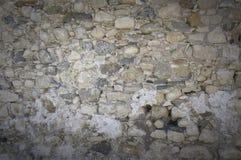 在无头甘蓝堡垒的墙壁表面在Lerapetra 图库摄影