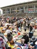在日产体育场的跳蚤市场在申英澈横滨,日本 库存照片