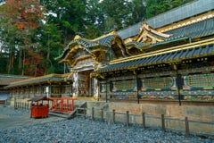 在日光Toshogu寺庙的Karamon门在日本 免版税图库摄影