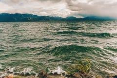 在日内瓦湖的以后的风暴 免版税图库摄影