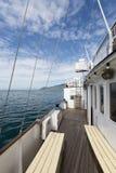 在日内瓦湖的客船 免版税图库摄影