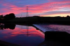 在日出前的早晨天空 免版税库存照片