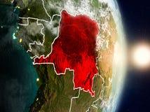 在日出期间的刚果民主共和国 库存图片