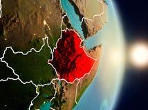 在日出期间的埃塞俄比亚 皇族释放例证