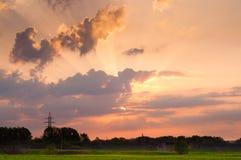 在日出期间的天空 库存照片
