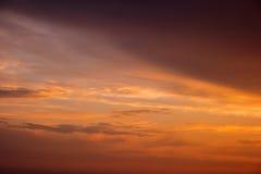 在日出期间的天空 免版税库存图片