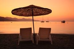 在日出火鸡turunc的海湾 库存照片