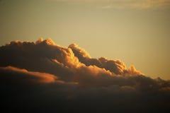 在日出的云彩 库存图片