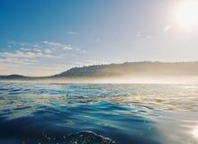 在日出的加利福尼亚海岸 免版税库存照片