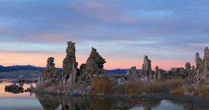 在日出的单音湖凝灰岩 影视素材