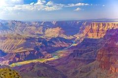 在日出的大峡谷 免版税图库摄影