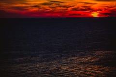 在日出的大西洋 库存照片