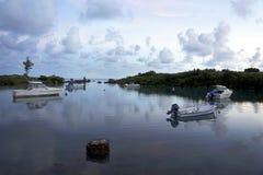 在日出的小海湾-百慕大 库存照片