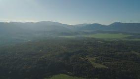 在日出的山风景 菲律宾,吕宋 免版税库存图片
