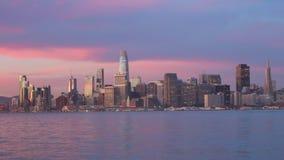 在日出的旧金山地平线城市 股票录像