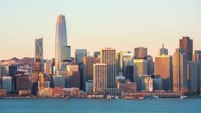 在日出的旧金山地平线 影视素材