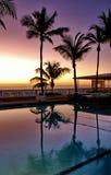 在日出的波多黎各水池 免版税图库摄影