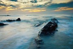 在日出的海景 库存照片