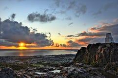 在日出的爱丁堡 免版税库存图片