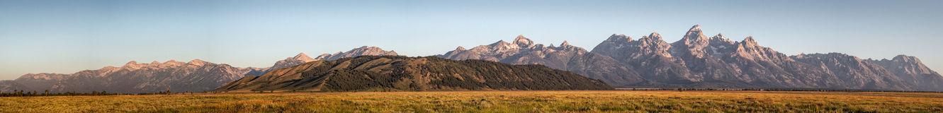 在日出的盛大Teton 库存图片