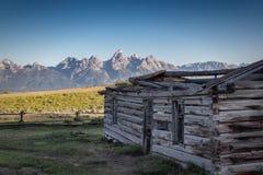 在日出的盛大Teton 免版税库存图片