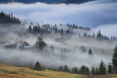 在日出的薄雾 图库摄影