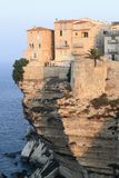 在日出的Bonifacio峭壁 免版税库存照片