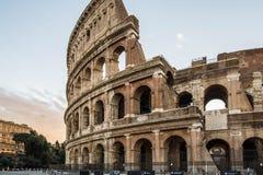 在日出,罗马,意大利的罗马斗兽场 库存图片