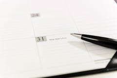 在日历日程表的12月31日 免版税库存照片