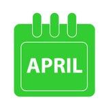 在日历的传染媒介月 免版税库存图片