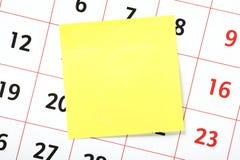 在日历的提示 库存图片