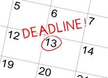 在日历的最后期限 免版税库存图片