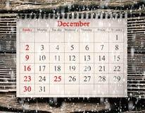 在日历的12月25日 库存照片
