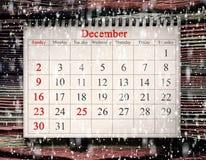在日历的12月25日 库存图片