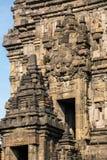 在日惹附近的巴兰班南寺庙Java的,印度尼西亚 库存照片