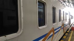 在日惹驻地的火车 库存图片