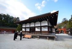 在日文的Shimogamo寺庙,是共同的名字的重要 免版税图库摄影