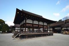 在日文的Shimogamo寺庙,是共同的名字的importan 免版税图库摄影