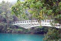 在日月潭台湾的Yongjie桥梁 免版税库存图片