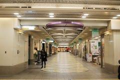 在日本京都的一个地下商城 免版税库存照片