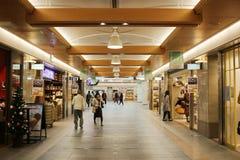 在日本京都的一个地下商城 免版税库存图片
