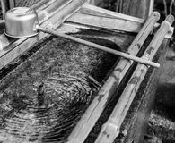 在日本寺庙的洗净水 库存图片