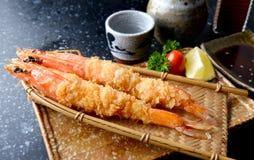 在日本式或ebi furai的被油炸的虾 库存图片