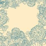 与花的背景在日本式 免版税图库摄影