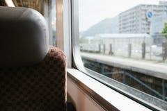 在日本火车里面 图库摄影