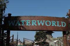 在日本环球影城的Waterworld地区 免版税库存照片