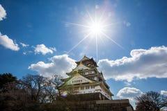 在日本的大阪城堡 图库摄影